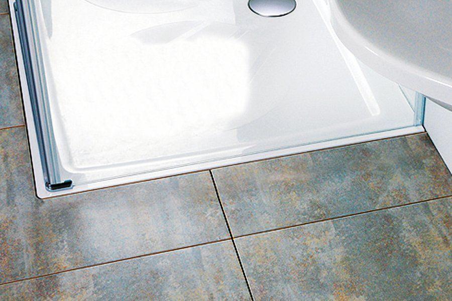 RAVAK GALAXY Perseus Pro 100 CHROME szögletes zuhanytálca öntött műmárványból / 100 x 100 cm-es / csúszásmentes / extra alacsony kivitel / fehér / XA04AA01010