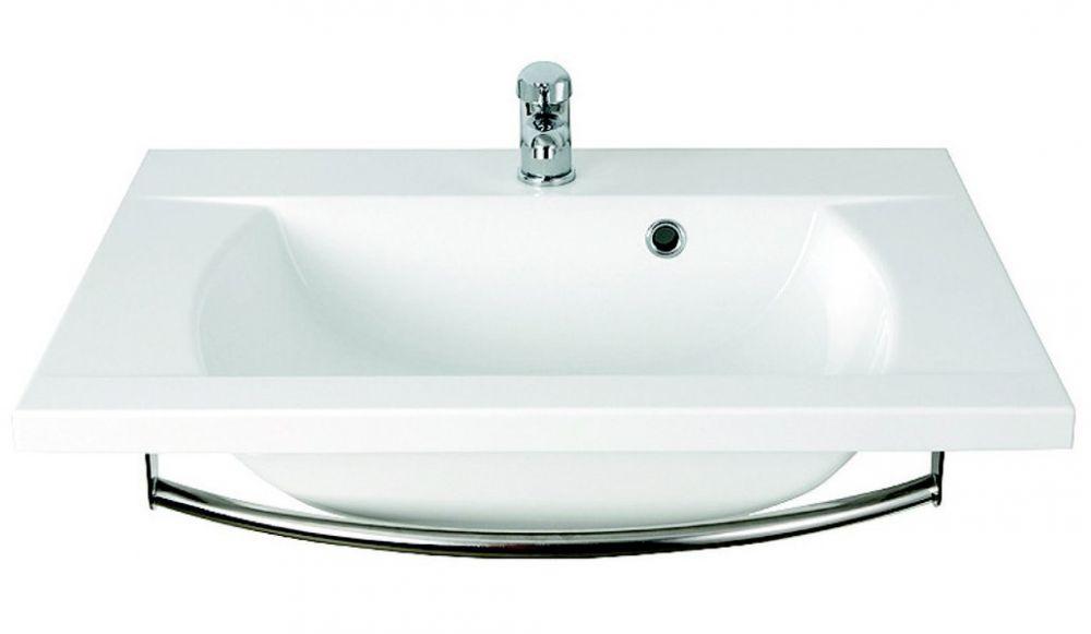RAVAK Classic 600 mosdó, furattal, öntött műmárvány, 60 cm, fehér, XJD01160000
