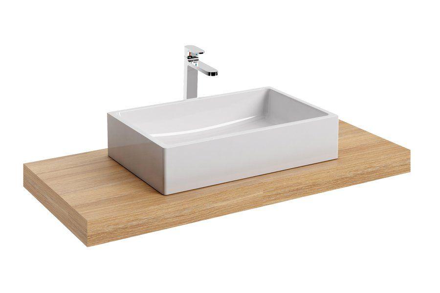 RAVAK Formy 01 600 D mosdó, szögletes, modern, túlfolyó nélkül, 60 x 39 cm-es / 600 x 390 cm-es / fehér / XJL01260000