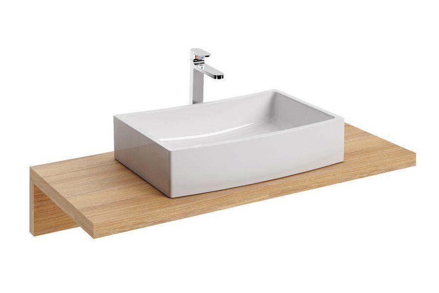 RAVAK Formy 02 500 D mosdó, szögletes, modern, túlfolyó nélkül, 50 x 41 cm-es / 500 x 410 cm-es / fehér / XJM01250000