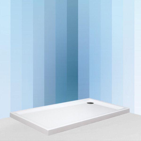 ROLTECHNIK FLAT KVADRO 1600x750 téglalap alakú akril zuhanytálca, 160x75 cm