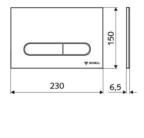 SCHELL Montus C 120 beépíthető WC tartály szett gipszkarton falhoz / komplett keretes wc tartály + Linear Round króm nyomólap
