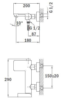 TEKA Formentera kádtöltő csaptelep, vízkőmentes perlátor, zajcsökkentő elemek, automata zuhanyváltó, fehér/króm  62.121.02.0BC / 62121020BC