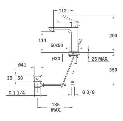 TEKA Formentera mosdó csaptelep, vízkőmentes perlátor, optimalizált vízfogyasztás, ECO rendszer, króm 62.346.12.00 / 623461200