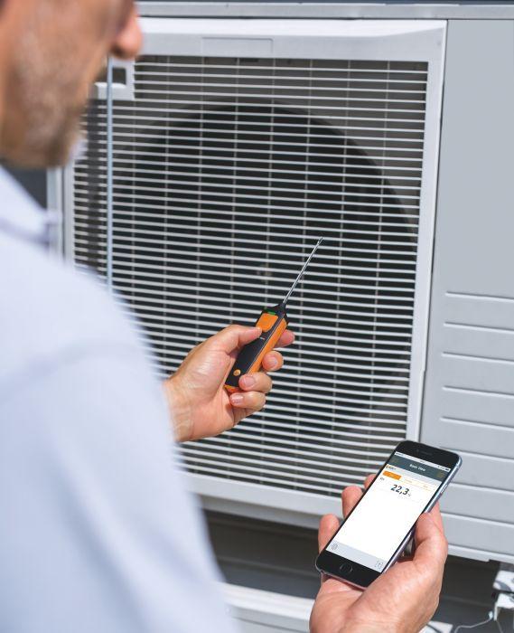TESTO 905i Smart Probes levegő hőmérsékletmérő műszer, bluetooth funkcióval, Smart készülékekhez okostelefon / tablet, okosérzékelő 0560 1905