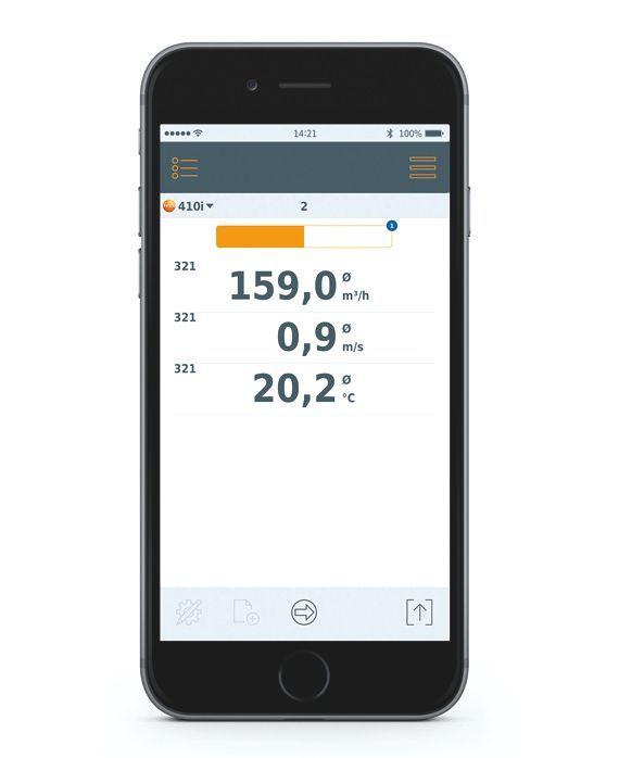 TESTO Smart Probes klímatechnikai szett, klímatechnikai rendszerek légsebesség, páratartalom, térfogatáram, hőmérséklet, bluetooth, Smart készülékekhez okostelefon / tablet, okosérzékelő 0563 0003