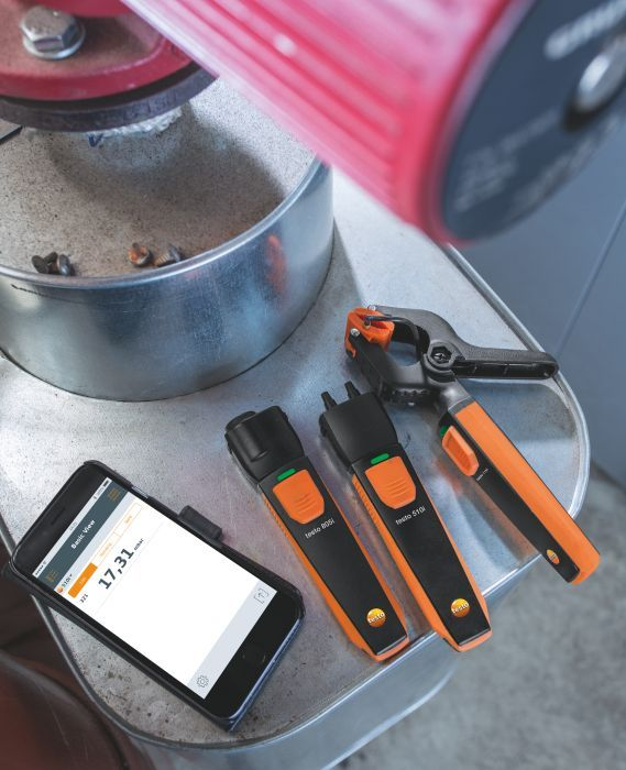 TESTO Smart Probes fűtéstechnikai szett, fűtőrendszerek hőmérséklet- és nyomás mérésére, bluetooth, Smart készülékekhez okostelefon / tablet, okosérzékelő 0563 0004