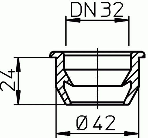 HL19.1 Tömlővég csatlakozó tömítés DN40/32