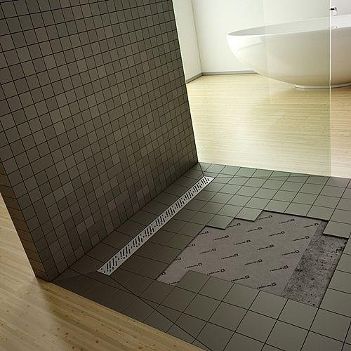 RADAWAY Téglalap alakú zuhanytálca folyókával a hosszú oldal mentén 109x89 / Burkolható zuhanytálcák / 5-7 mm vastagságú padló burkolatokhoz / aszimmetrikus zuhanytálca / 5DLA1109B-X