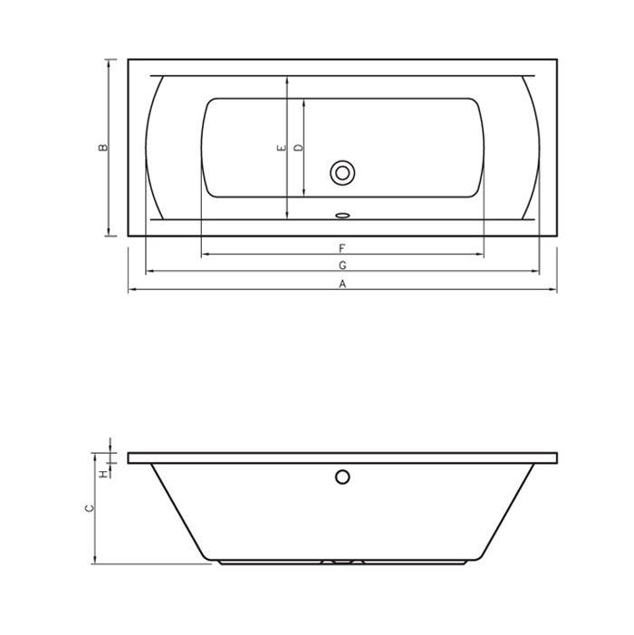M-Acryl HELENA 160x70 egyenes akril kád + Basic 4+4+2 vízmasszázs, pneumatikus vezérléssel