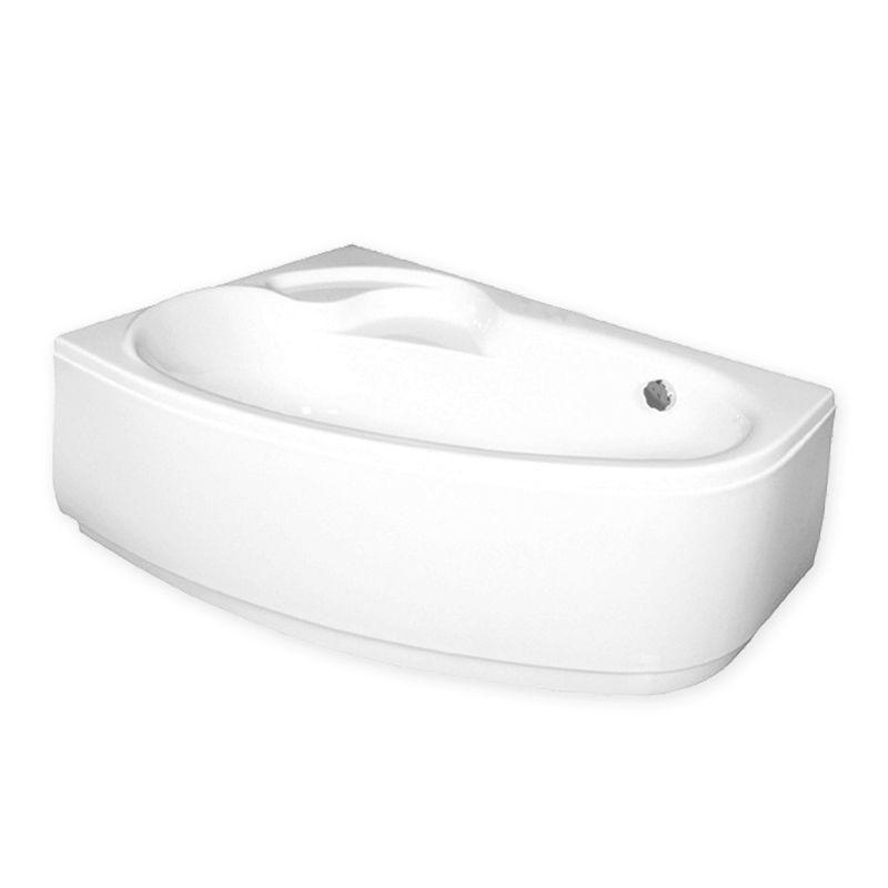 M-Acryl DARIA 150x100 Balos aszimmetrikus akril kád + Wellness ELEGANT 30 fúvókás intelligens Masszázsrendszer ABC* technológiával ,  elektronikus  vezérléssel