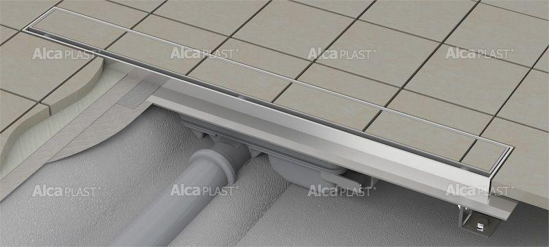 AlcaPLAST  APZ107-FLOOR-300 Floor Low / Alacsony zuhanyfolyóka peremmel / rács behelyezésére
