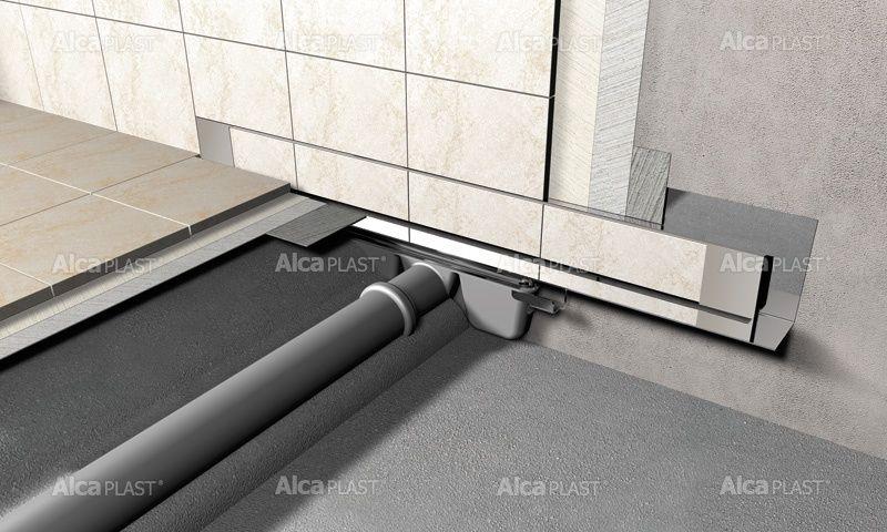 AlcaPLAST APZ5-SHADE-1050 SPA Falba építhető lefolyó rendszer, matt fedéllel