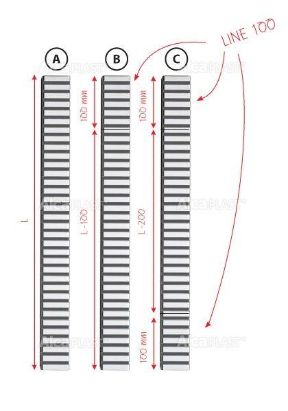 AlcaPLAST  PURE-100L  kiegészítő rács