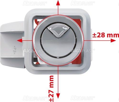 """AlcaPLAST  SA08 1/2"""" Öblítő rendszer kettős gombbal fix öblítéssel"""