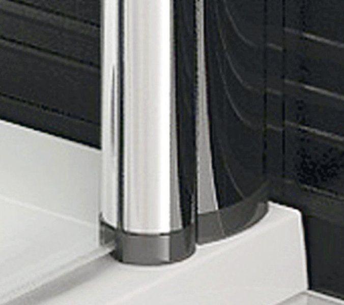 RAVAK Elegance ESKR2-90 Sarokbelépős zuhanykabin két nyíló résszel fehér kerettel / TRANSPARENT edzett biztonsági üveggel 90 cm / 1JE70100Z1
