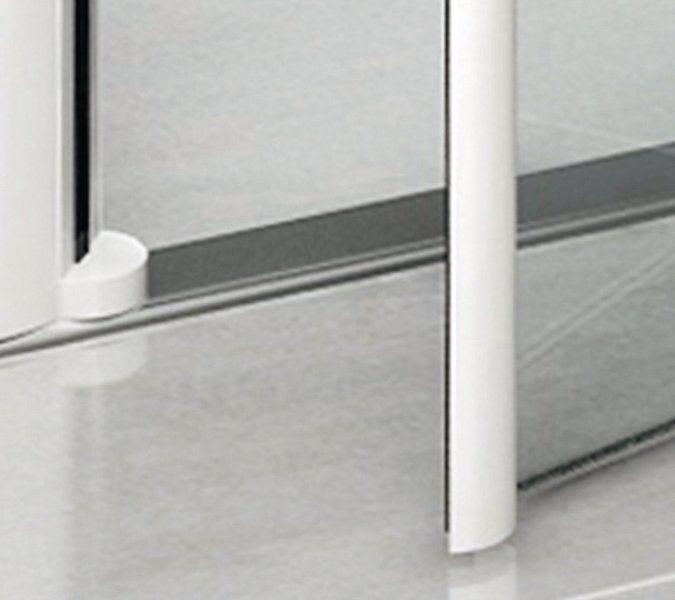 RAVAK Elegance ESKPS-90 Kétrészes jobbos zuhanykabin fix oldallal fehér kerettel / TRANSPARENT edzett biztonsági üveggel 90 cm / 1MP70100Z1