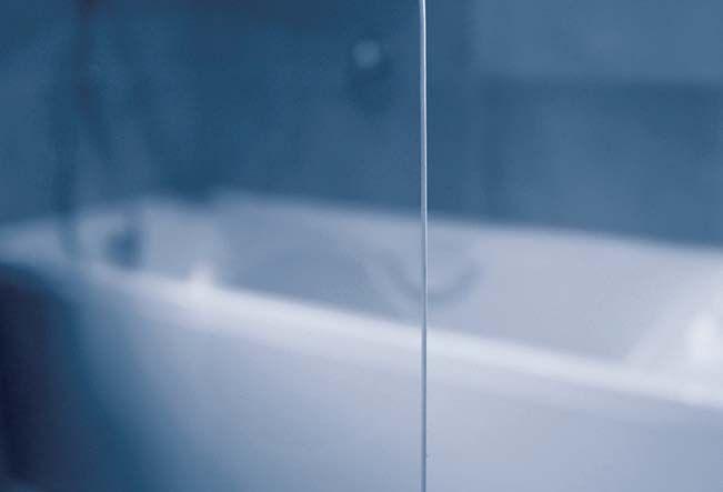 RAVAK EVSK1-85 Jobbos ROSA 150/160 egyrészes kádparaván nyíló elemmel fehér profillal / TRANSPARENT edzett biztonsági üveggel 85 cm / 76P60100Y1
