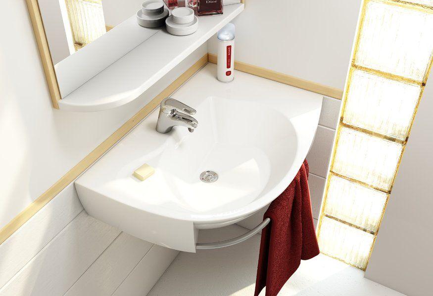 RAVAK Rosa Comfort Plus balos, fehér mosdó, furattal, 78x55 cm, XJ0P1100000