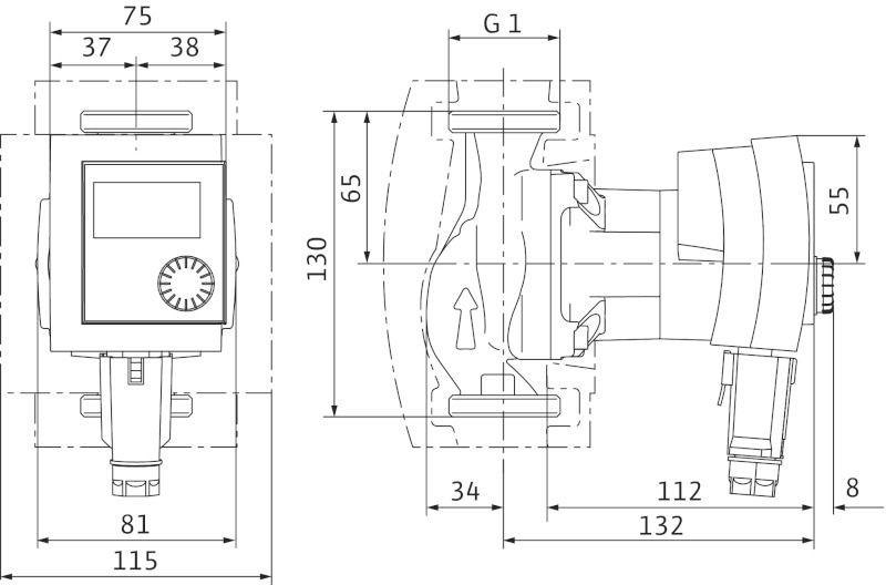 WILO Stratos PICO 15/1-6 Nedvestengelyű fűtési keringető szivattyú, energiatakarékos / 4132461