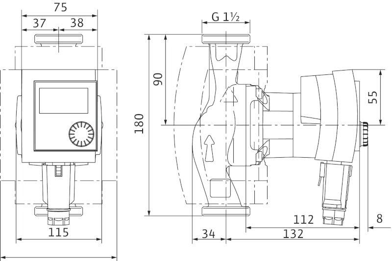 WILO Stratos PICO 25/1-6 RG Nedvestengelyű fűtési keringető szivattyú, energiatakarékos / 4132469