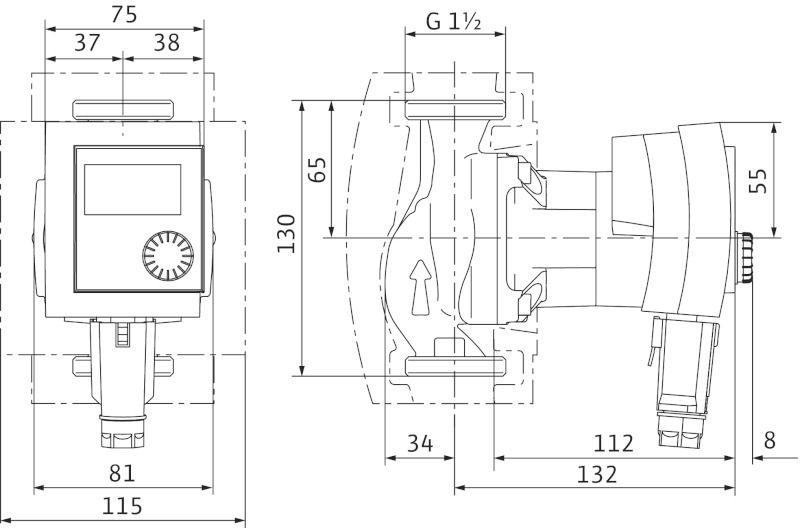 WILO Stratos PICO 25/1-6-130 Nedvestengelyű fűtési keringető szivattyú, energiatakarékos / 4132467