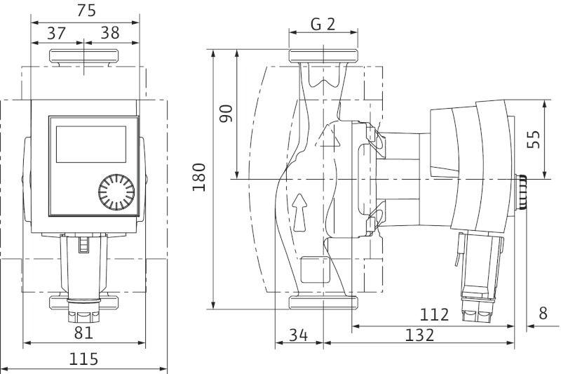 WILO Stratos PICO 30/1-4 Nedvestengelyű fűtési keringető szivattyú, energiatakarékos / 4132464