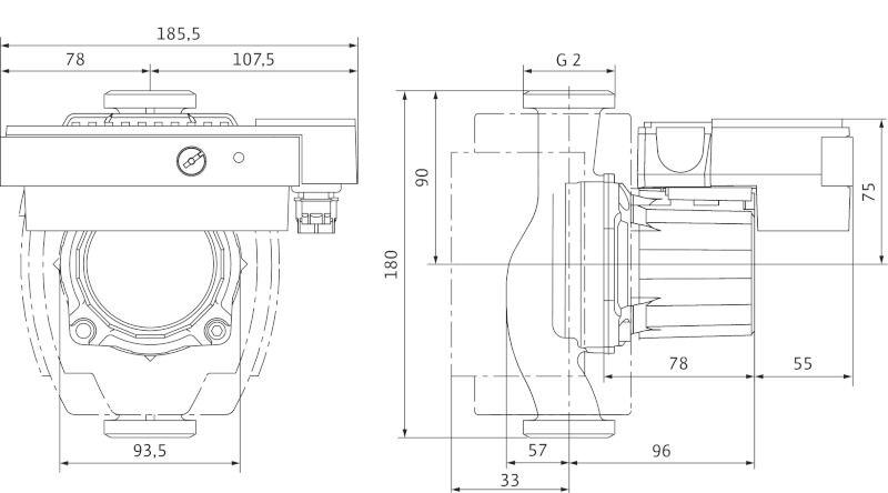 WILO STRATOS ECO 30/1-5 BMS Nedvestengelyű fűtési keringető szivattyú / 4098545