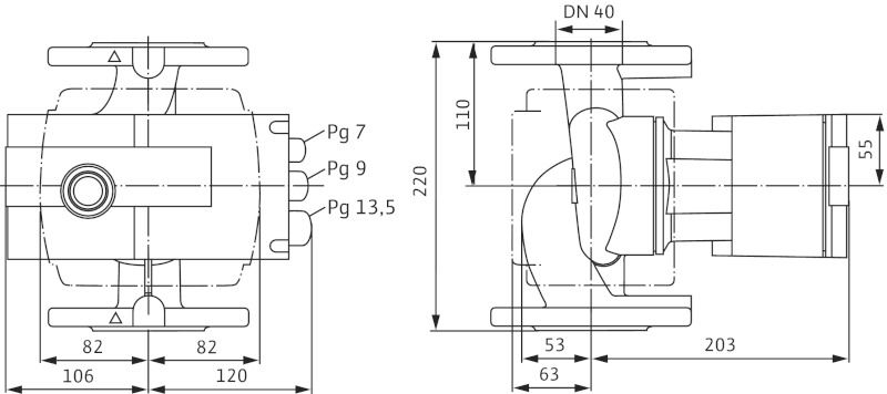 WILO Stratos 40/1-8 Nedvestengelyű fűtési keringető szivattyú / 2090454