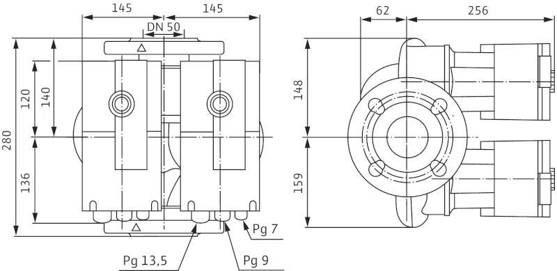 WILO Stratos-D 50/1-12 Nedvestengelyű fűtési keringető szivattyú / 2090467
