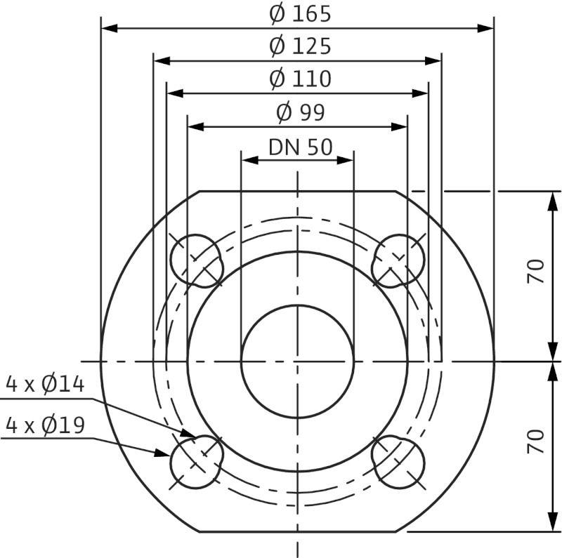 WILO Yonos MAXO 50/0,5-8 PN6/10 Nedvestengelyű keringetőszivattyú / 2120649