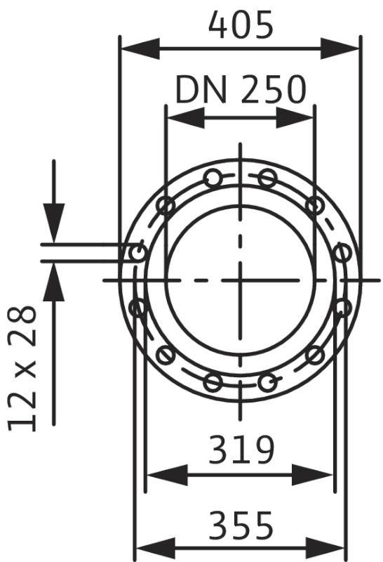 WILO CronoLine IL 250/480-160/4 Karimás csatlakozású, inline kivitelű száraztengelyű szivattyú / 2088477