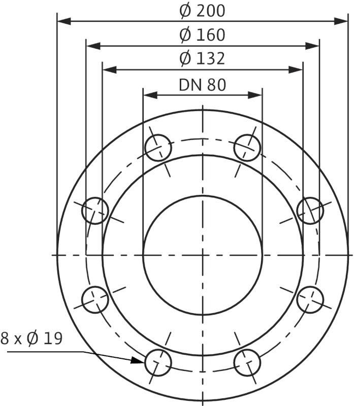 WILO CronoLine IL 80/200-18,5/2 Karimás csatlakozású, inline kivitelű száraztengelyű szivattyú / 2088380