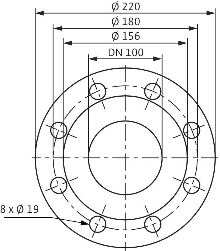 WILO CronoLine IL 100/150-15/2 Karimás csatlakozású, inline kivitelű száraztengelyű szivattyú / 2050540