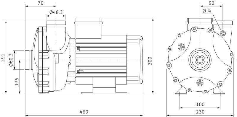 WILO BAC 70/135-3/2-DM/R-2 Menetes vagy Victualic csatlakozású, blokk kivitelű száraztengelyű szivattyú / 4160298