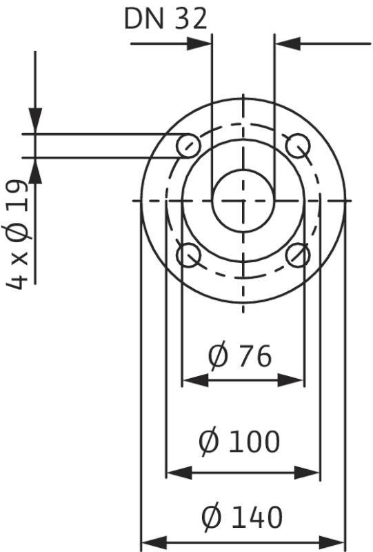 WILO CronoBloc BL 32/160-0,55/4 Karimás csatlakozású, blokk kivitelű száraztengelyű szivattyú / 2089365