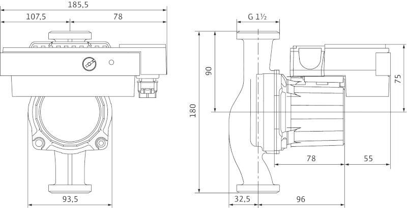 WILO Stratos ECO-ST 25/1-5 RG Nedvestengelyű keringető szivattyú csavarzatos csatlakozással / 4094625
