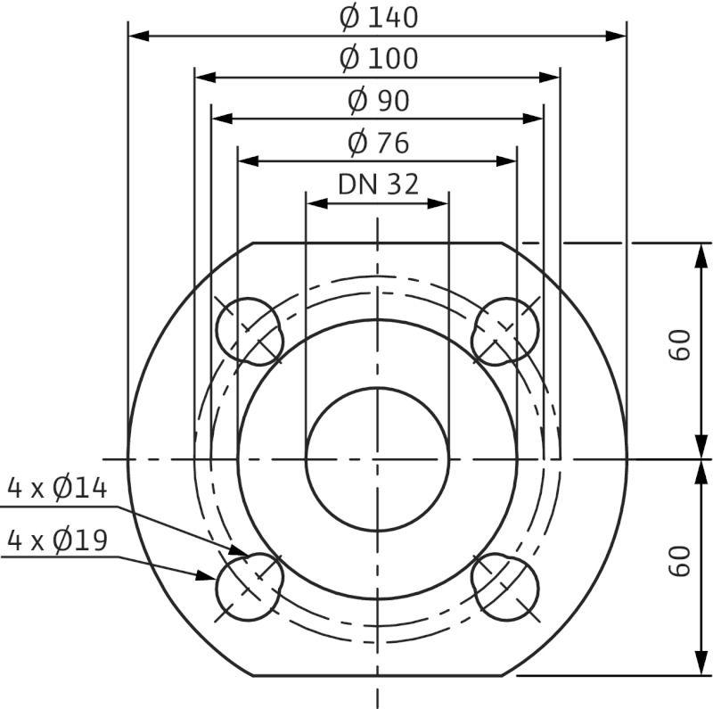 WILO TOP-STGD 32/10 EM PN6/10 Karimás csatlakozású nedvestengelyű keringető ikerszivattyú / 2131750