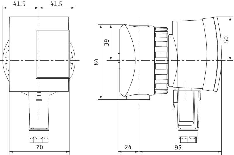 WILO Star-Z NOVA Nedvestengelyű cirkulációs használati melegvíz (HMV) keringető szivattyú csavarzatos csatlakozással / 4132760