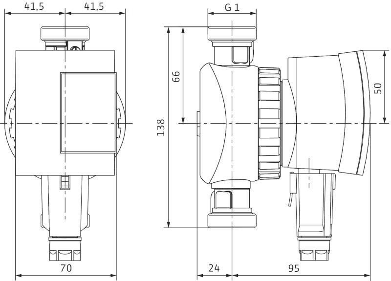 WILO Star-Z NOVA C Nedvestengelyű keringető szivattyú csavarzatos csatlakozással és blokkolási / 4132762