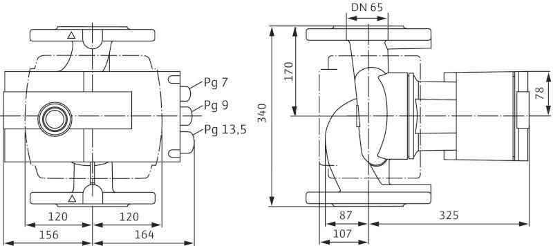 WILO Stratos-Z 65/1-12 Menetes vagy karimás csatlakozású nedvestengelyű keringetőszivattyú / 2090475