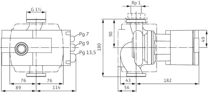 WILO Stratos-Z 25/1-8 RG PN16 Menetes vagy karimás csatlakozású nedvestengelyű keringetőszivattyú / 2069758