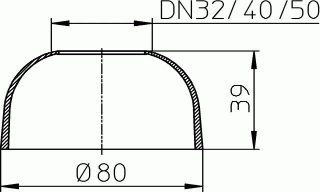 HL8EL/40 Szifonrozetta elasztikus DN40