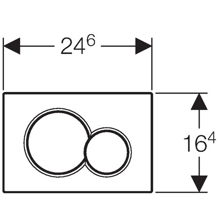 GEBERIT Sigma 01 nyomólap két mennyiségű / mélyfekete RAL 9005 / 115.770.DW.5 / 115770DW5