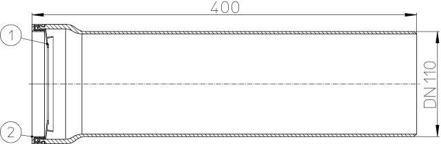 HL203/1 WC-csatlakozó DN110 ajakos tömítéssel
