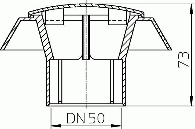 HL805.0 Párakivezető sapka DN50
