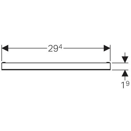 Geberit takarólap zuhany szerelőelemhez / burkolható, keret nélküli, 29,4x1,9mm / 154.338.00.1 / 154338001