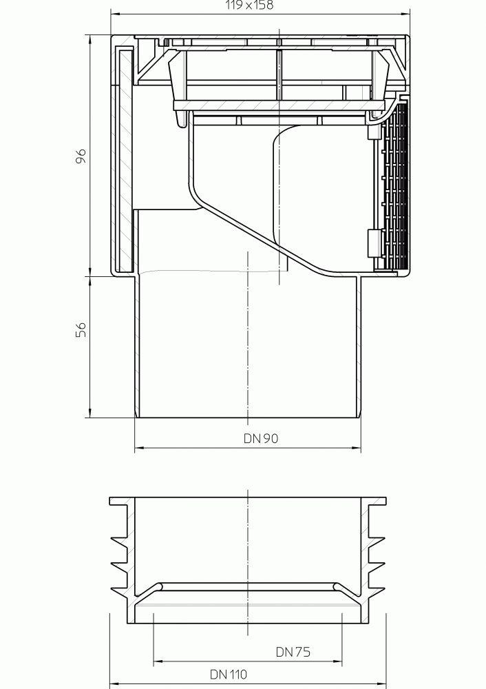 HL901 Légbeszívó szelep DN75/90/110, hőszigeteléssel, rovarhálóval, ajakos tömítőelemmel