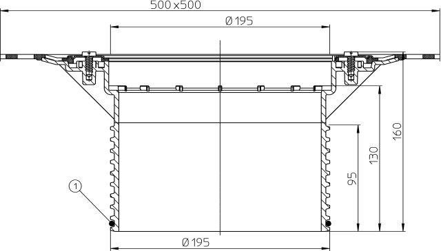 HL618H Magasító elem 130mm/d 195mm gyárilag felhegesztett bitumengallérral