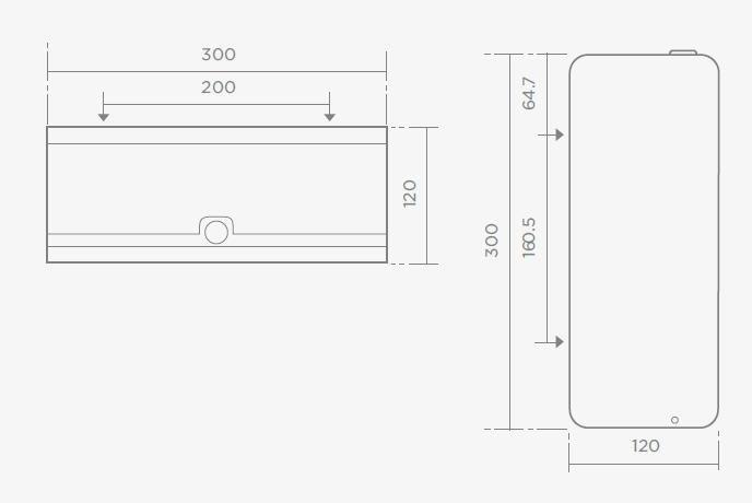 TEKA IC404 rozsdamentes acél XL wc-papír tartó 76.404.02.00 / 764040200